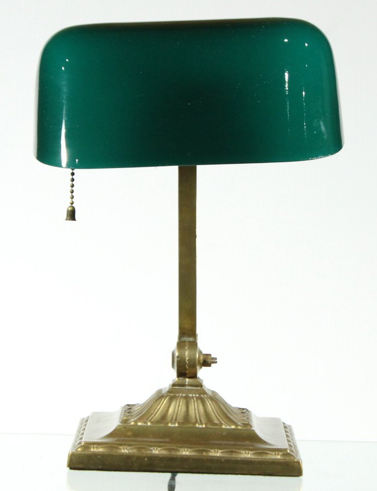 EMERALITE Double Adjustable DESK LAMP GREEN CASED SHADE