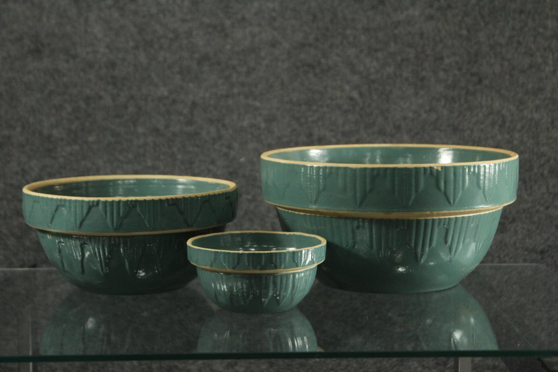 Clay City pottery turquoise graduated pots