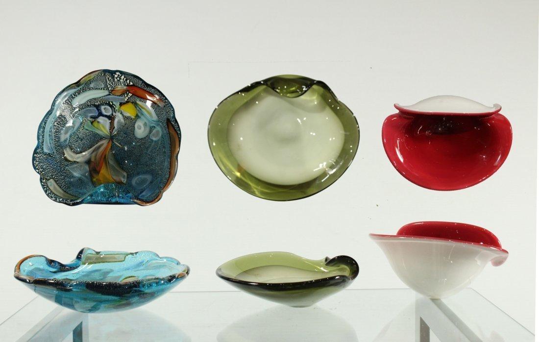 Assorted murano bowls three (3)