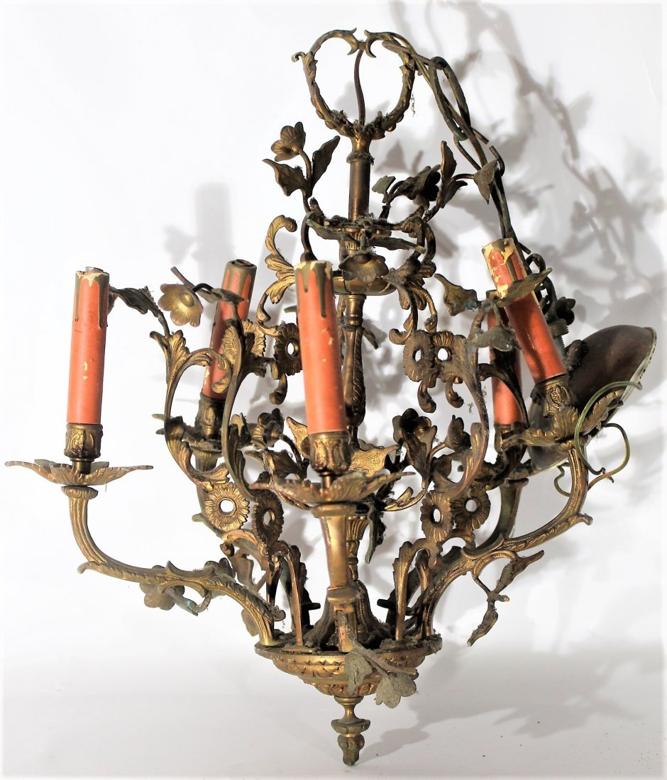 CAST BRASS FRENCH CHANDELIER