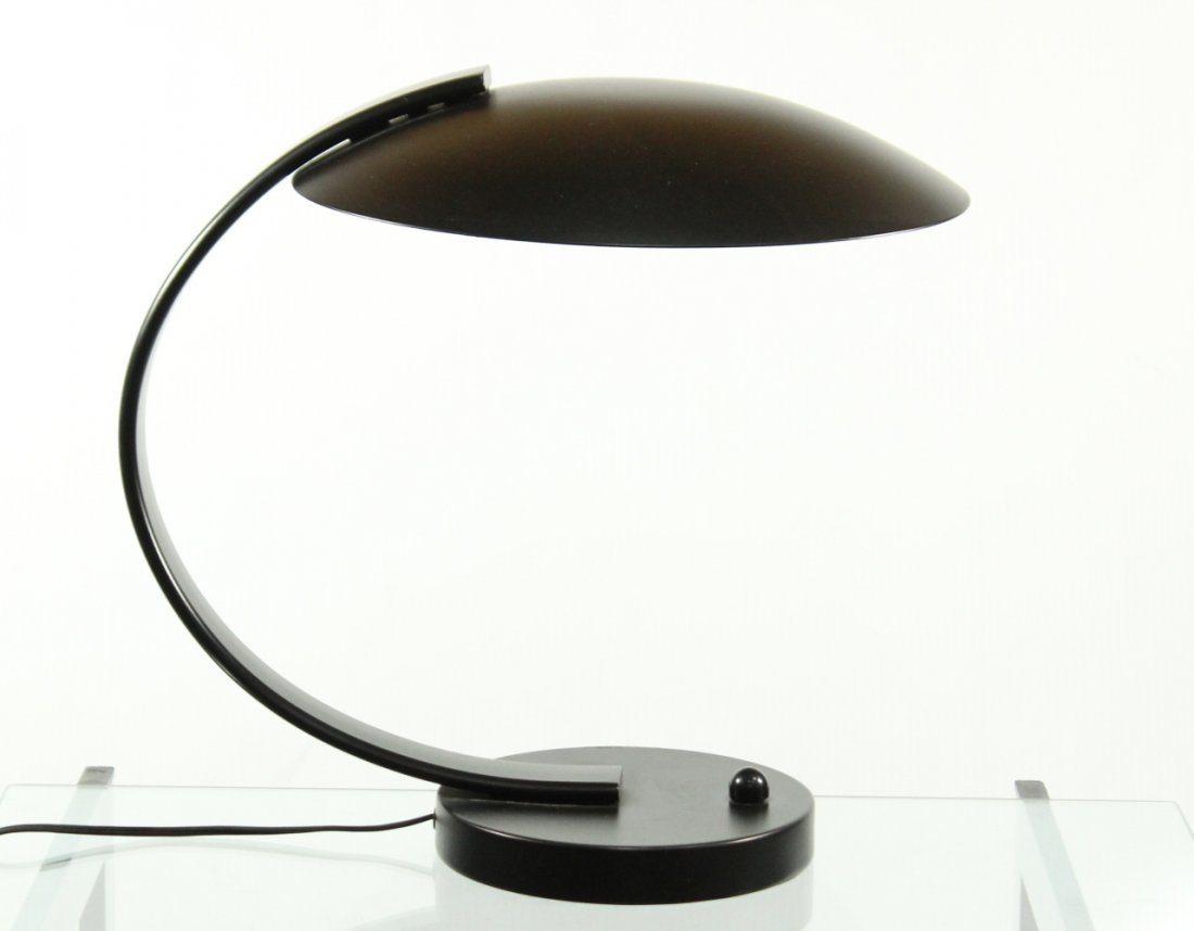 ATOMIC DESIGN Metal Arched Saucer DESK LAMP