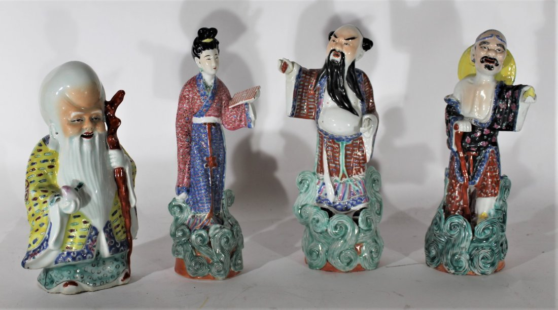 FOUR [4]  ASSORTED ORIENTAL PORCELAIN FIGURES