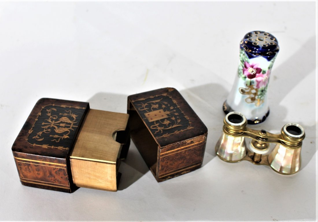 3-Piece Grouping, INLAID CARD HOLDER, HAT PIN, OPERA GL