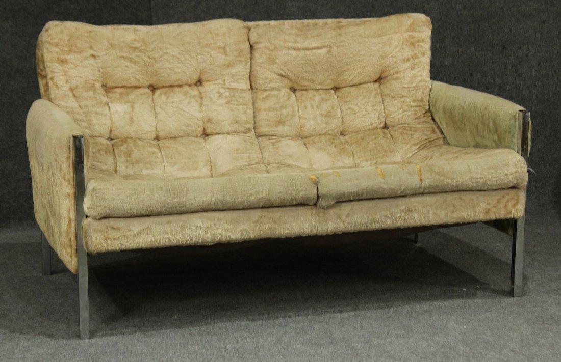 MILO BAUGHMAN Style chrome sofa