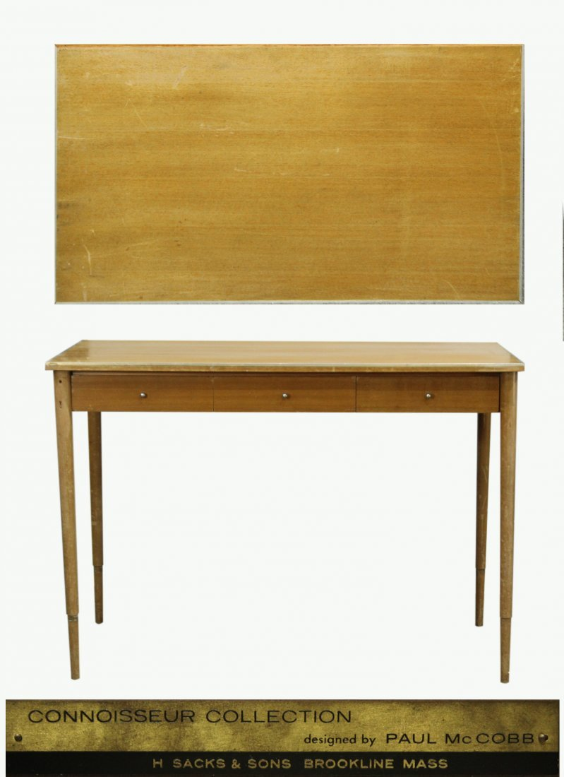 Paul McCobb Connoisseur Collection blonde desk