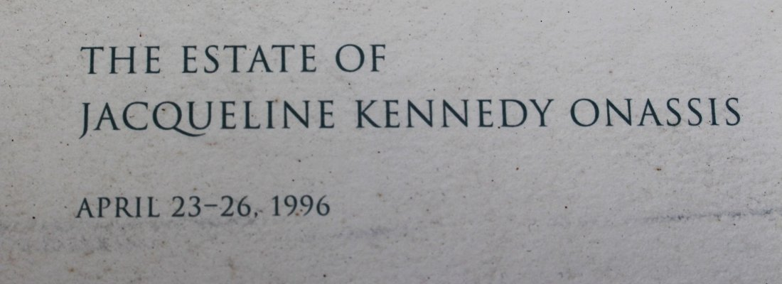 JACQUELINE KENNEDY ONASSIS Auction Catalog SOTHEBY 1996