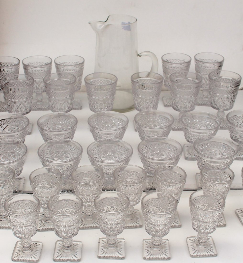 35 PCS. GLASS PITCHER, GLASS TUMBLERS DRINKING GLASSES
