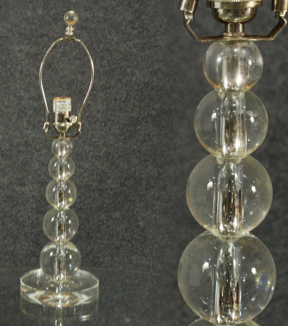 Mid-century modern lucite lamp