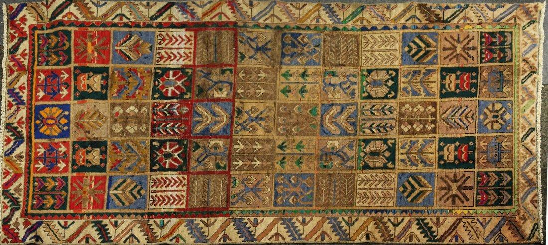 Mid-century modern hand-woven rug