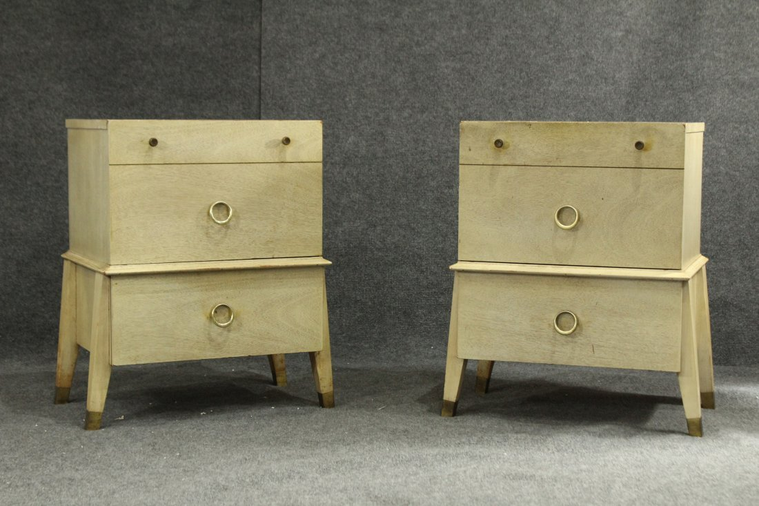 Mid-century modern pair of atomic end tables