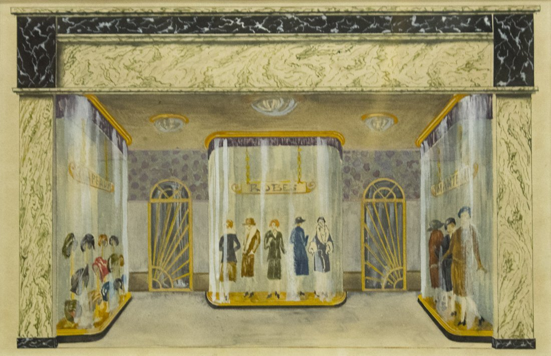 FASHION STORE DISPLAY ARCHITECTURAL RENDER WATERCOLOR - 2