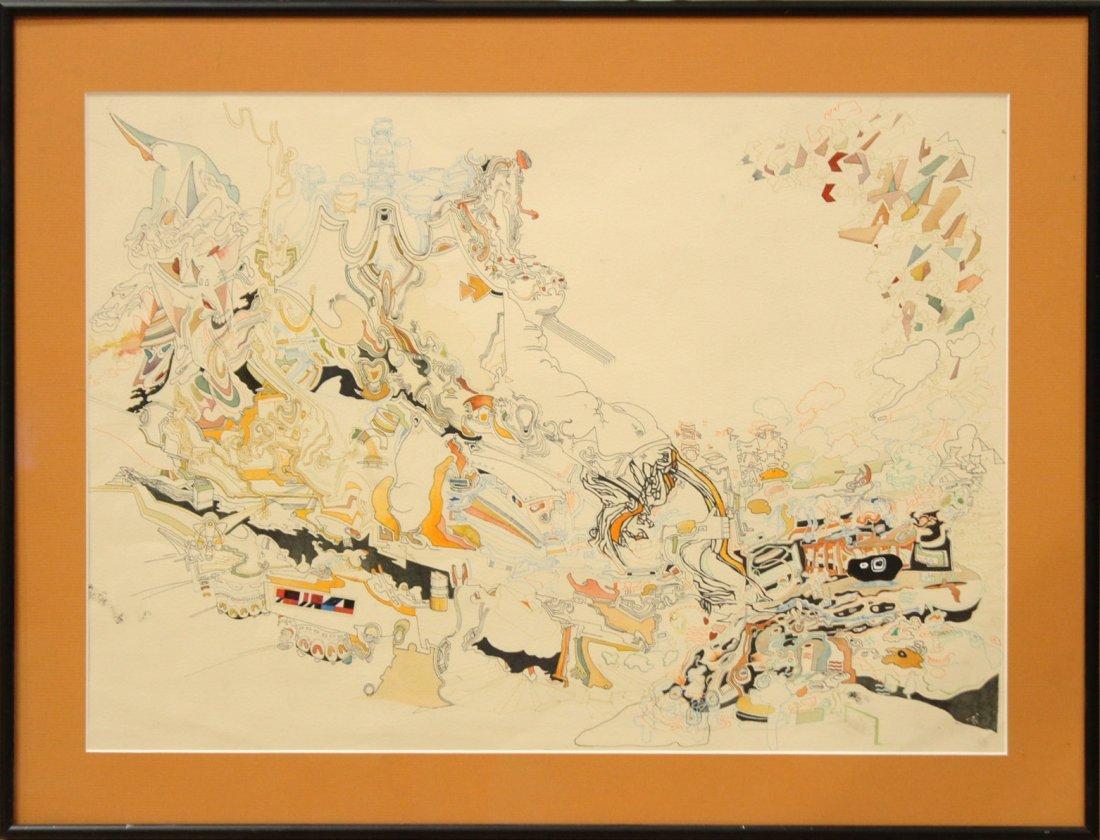 MID CENTURY POP ART ABSTRACT TITLED MIROs CORNER