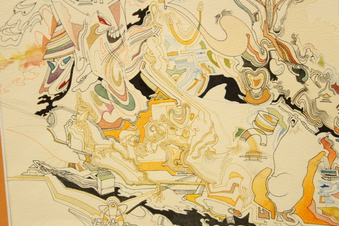 MID CENTURY POP ART ABSTRACT TITLED MIROs CORNER - 3