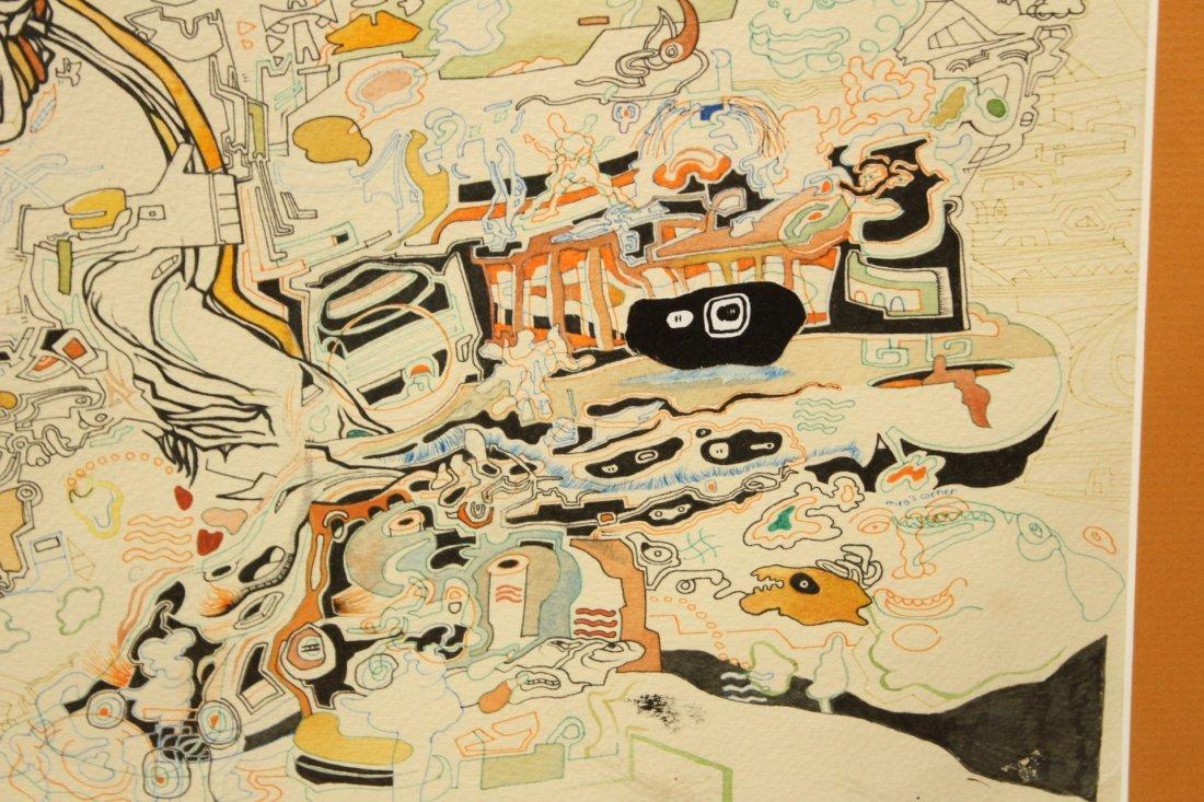 MID CENTURY POP ART ABSTRACT TITLED MIROs CORNER - 5