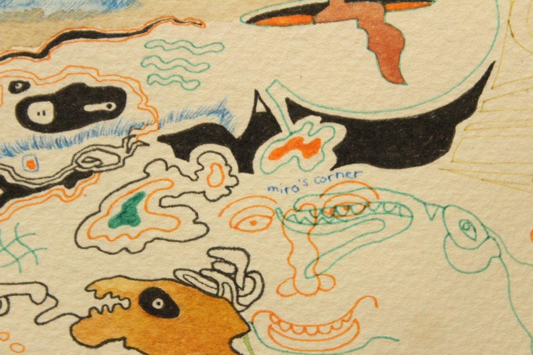 MID CENTURY POP ART ABSTRACT TITLED MIROs CORNER - 7
