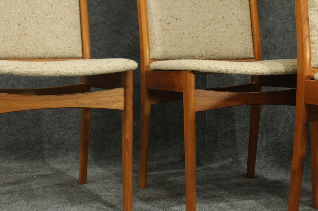 SOS DENMARK SET FOUR [4] TEAK DINING CHAIRS - 3