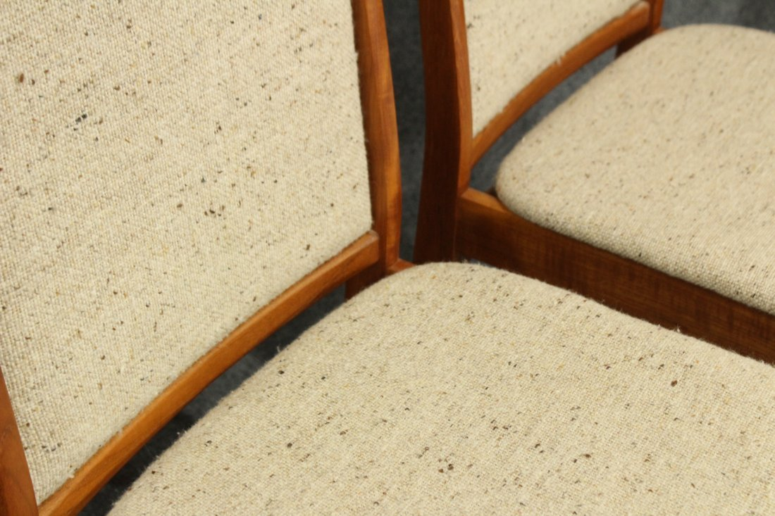 SOS DENMARK SET FOUR [4] TEAK DINING CHAIRS - 5