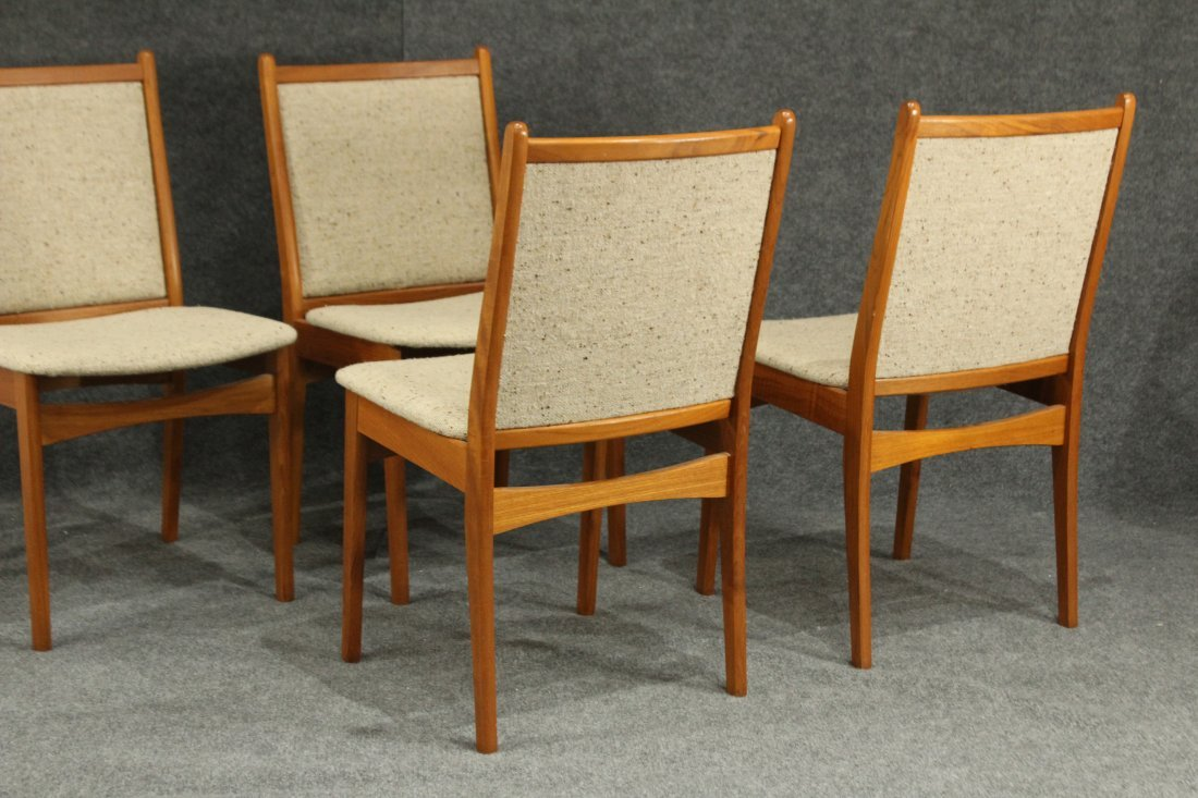 SOS DENMARK SET FOUR [4] TEAK DINING CHAIRS - 6