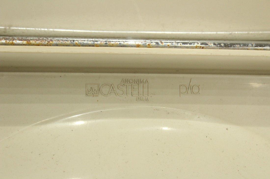 CASTELLI ITALY Set 6 FOLDING CHROME WHITE PLASTIC CHAIR - 7