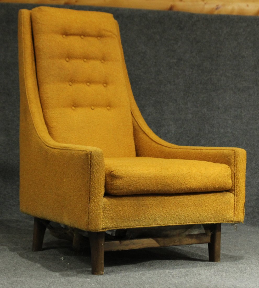 ADRIAN PEARSALL Yellow Gold HIGH BACK LOUNGE CHAIR