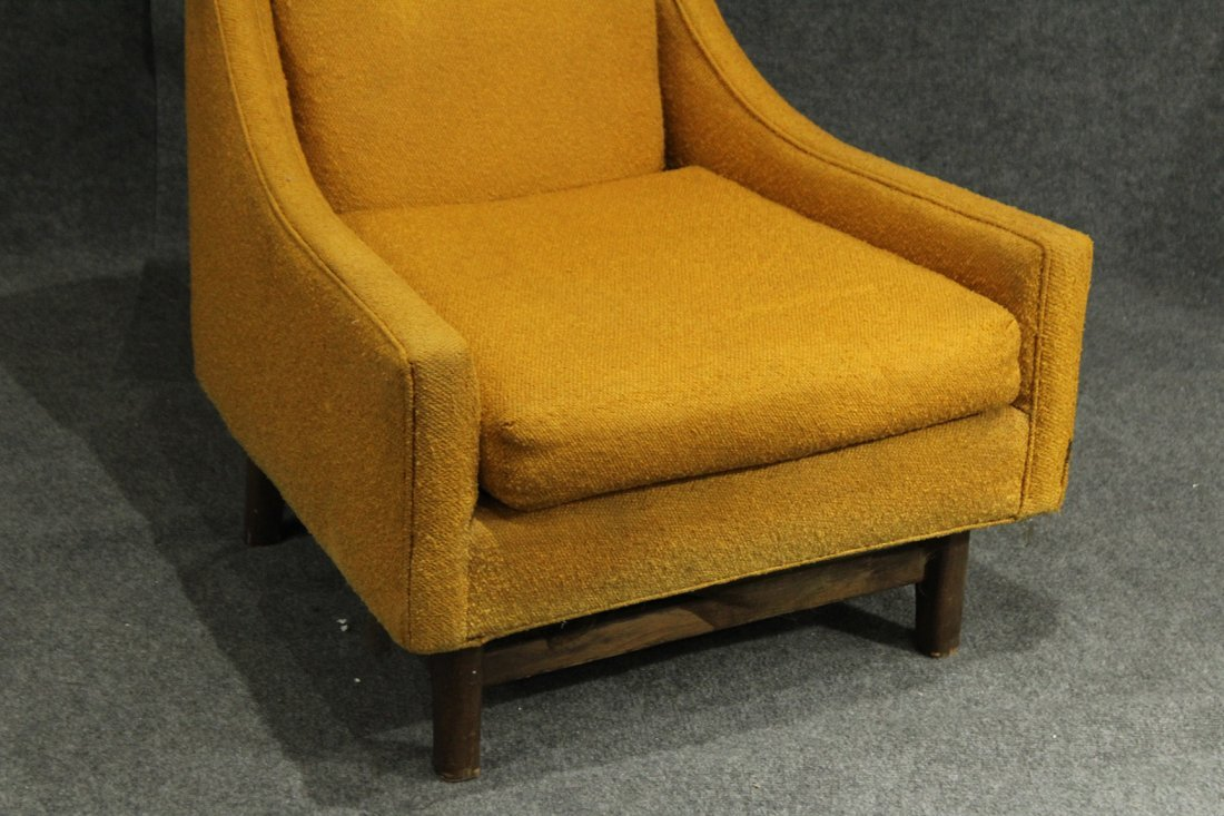 ADRIAN PEARSALL Yellow Gold HIGH BACK LOUNGE CHAIR - 2