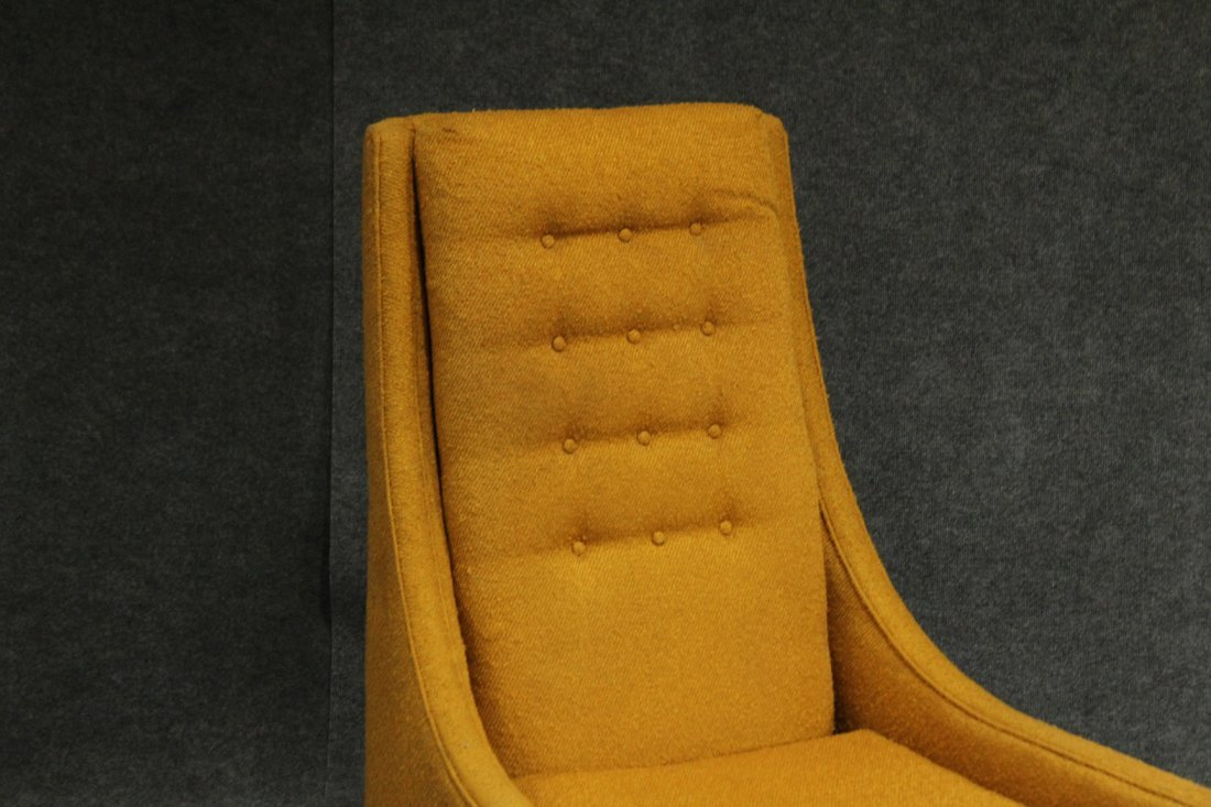 ADRIAN PEARSALL Yellow Gold HIGH BACK LOUNGE CHAIR - 3