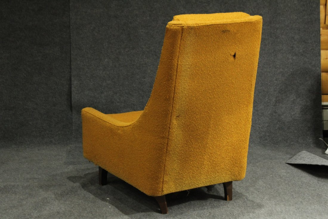 ADRIAN PEARSALL Yellow Gold HIGH BACK LOUNGE CHAIR - 5