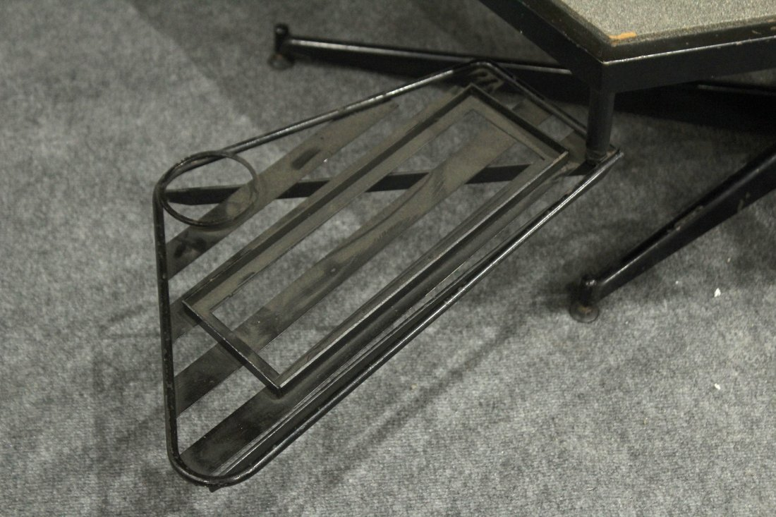 UNUSUAL DIRECTIONAL COFFEE TABLE WITH SLIDE OUT TRAYS - 2