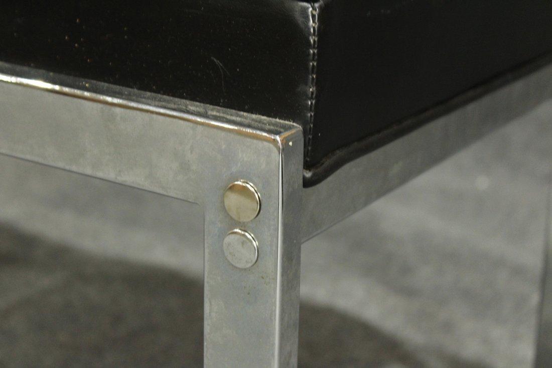 MILO BAUGHMAN Chrome Flat Bar FOOTSTOOL / OTTOMAN - 3