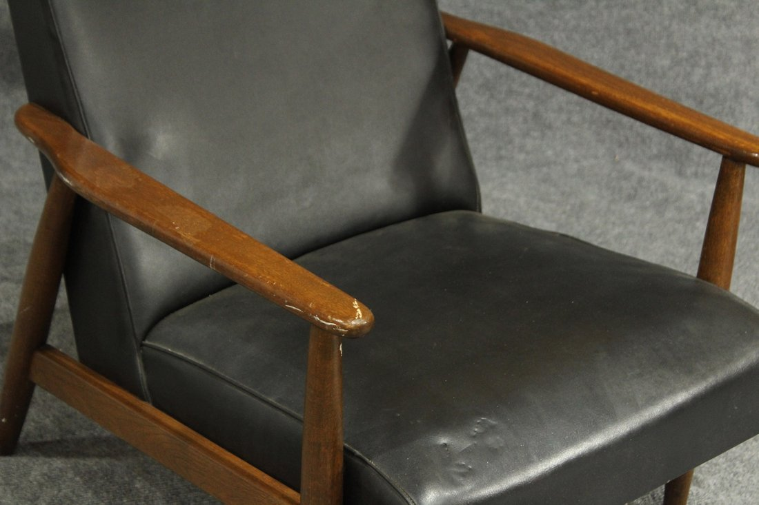 DANISH MODERN TEAK LOUNGE ARM CHAIR - 2