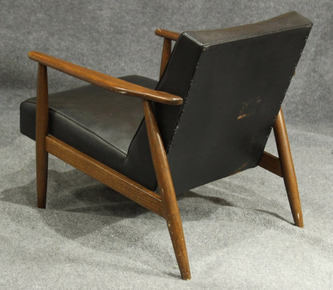 DANISH MODERN TEAK LOUNGE ARM CHAIR - 5