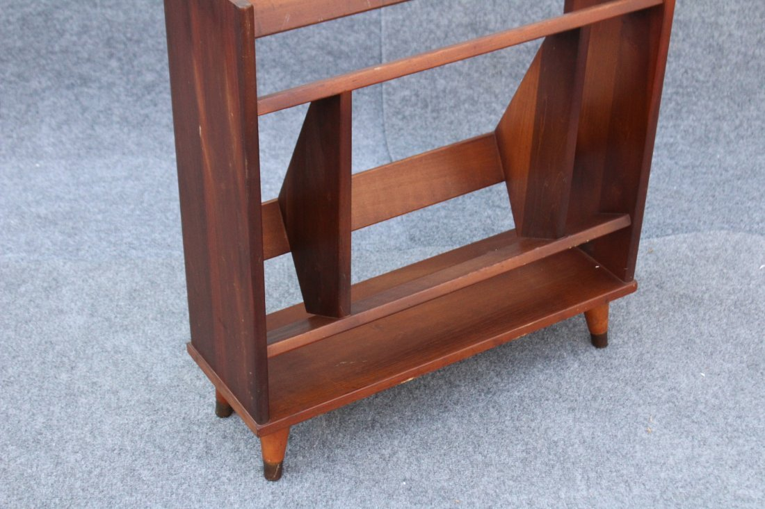 MID CENTURY MODERN DANISH TEAK NARROW BOOKSTAND - 3
