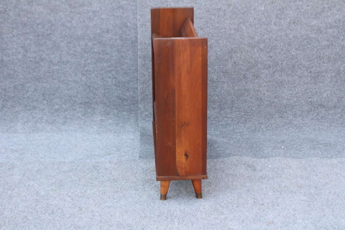 MID CENTURY MODERN DANISH TEAK NARROW BOOKSTAND - 5