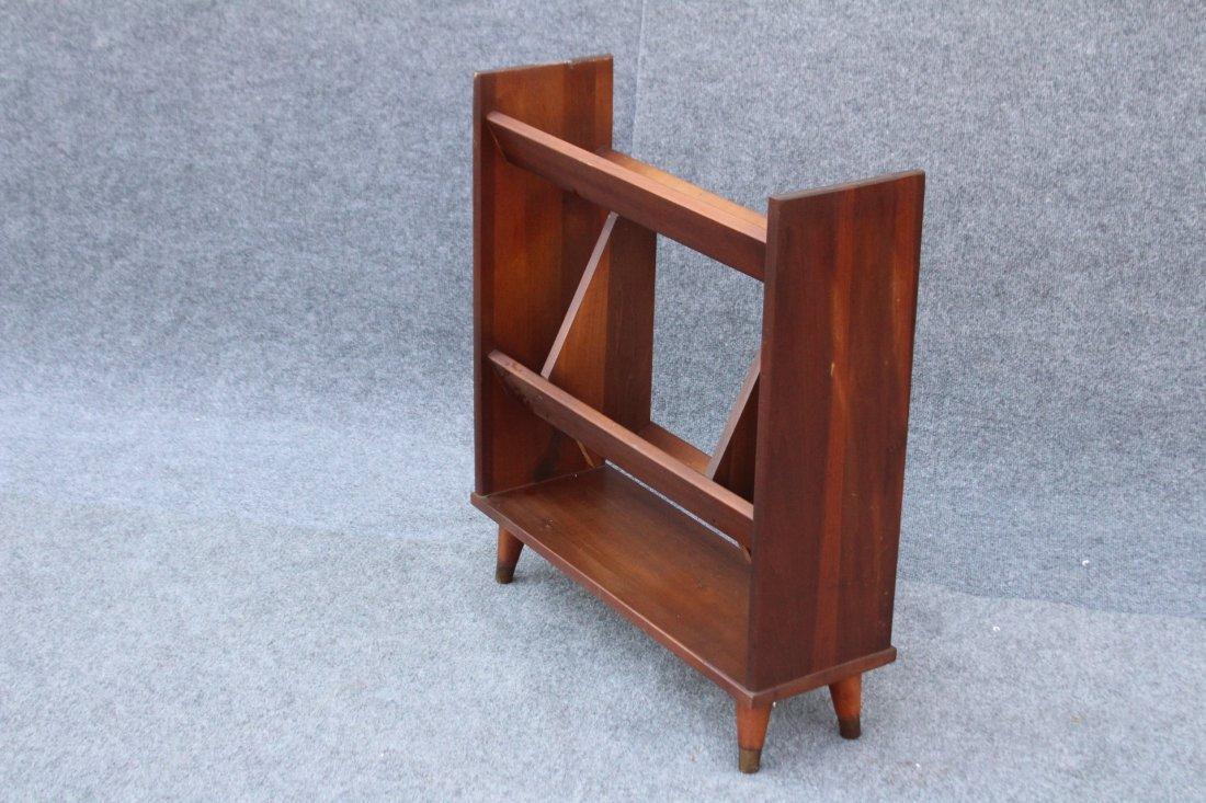 MID CENTURY MODERN DANISH TEAK NARROW BOOKSTAND - 6