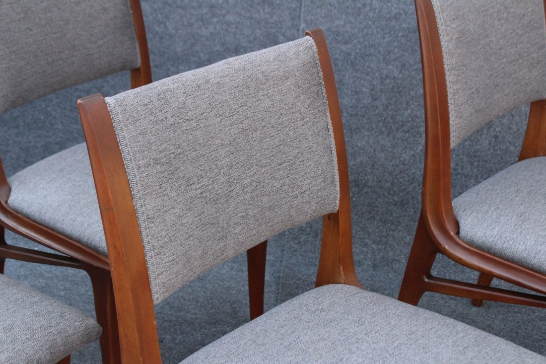Mid Century DANISH TEAK HIGH DESIGN SET 4 DINING CHAIRS - 4