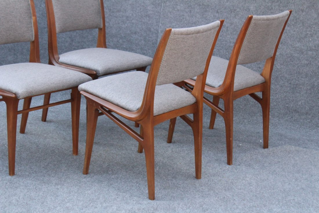 Mid Century DANISH TEAK HIGH DESIGN SET 4 DINING CHAIRS - 6