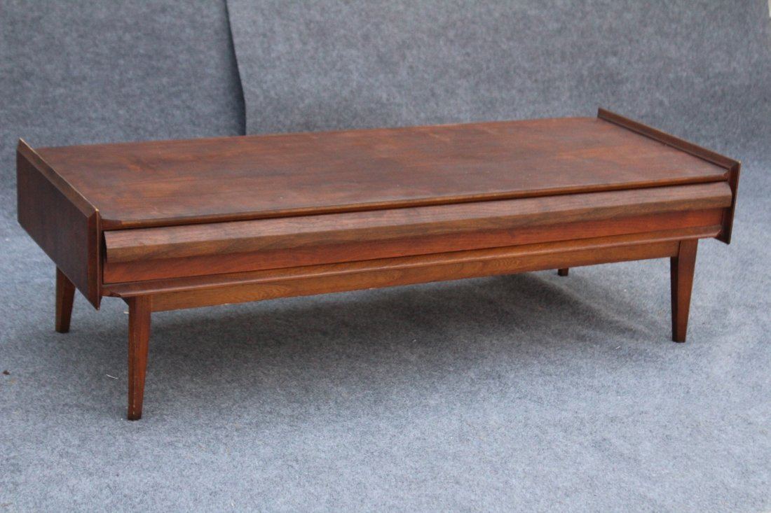 LANE Mid-century Modern Teak RECTANGULAR COFFEE TABLE - 2