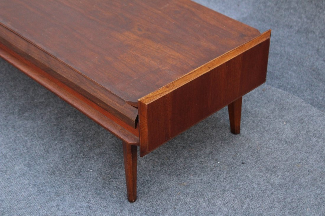 LANE Mid-century Modern Teak RECTANGULAR COFFEE TABLE - 4