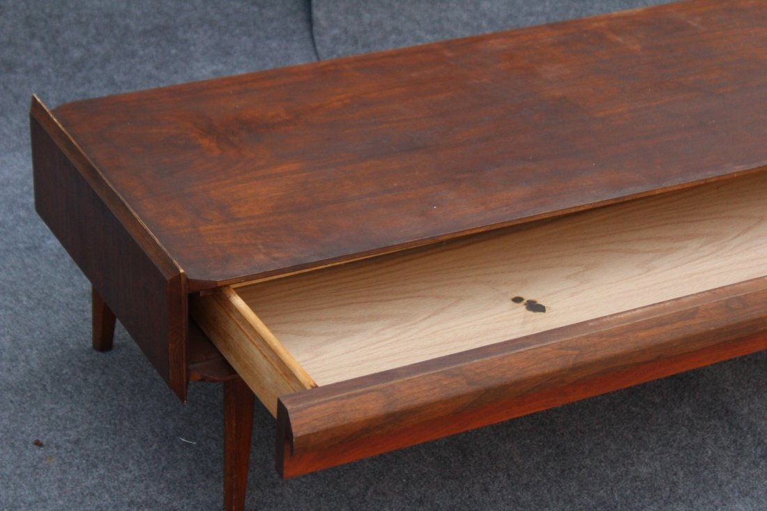 LANE Mid-century Modern Teak RECTANGULAR COFFEE TABLE - 6