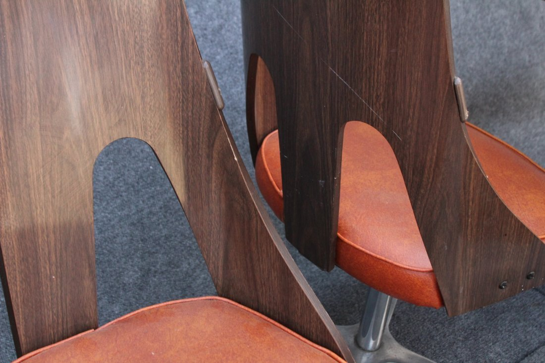 SPACE AGE DESIGN CHROME AND FORMICA 6 CHAIRS, TABLE - 9