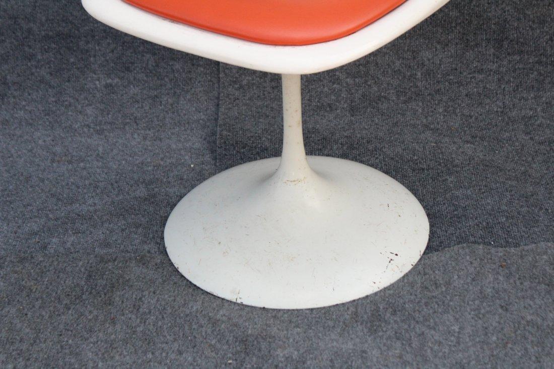 KNOLL SAARINEN WHITE TULIP BASE SWIVEL SIDE CHAIR - 3