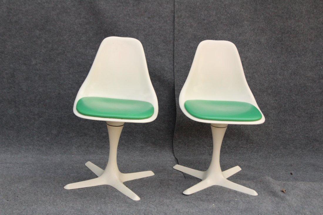 BURKE Saarinen Style Pair Dining Chairs Propeller Base - 2