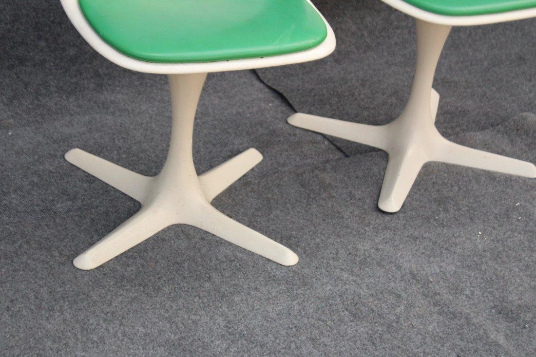 BURKE Saarinen Style Pair Dining Chairs Propeller Base - 3