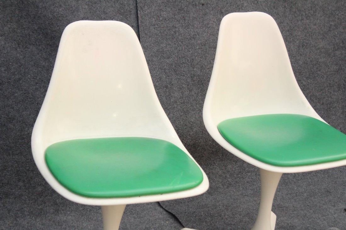 BURKE Saarinen Style Pair Dining Chairs Propeller Base - 4