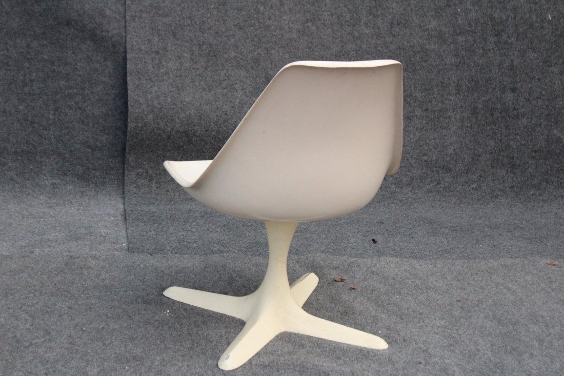 Eero Saarinen Style White Swivel Chair Propeller Base - 4