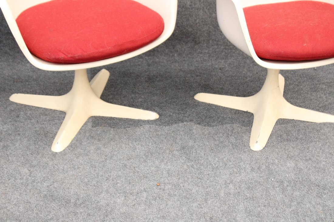 BURKE Saarinen Style 3 Dining Arm Chairs Propeller Base - 2