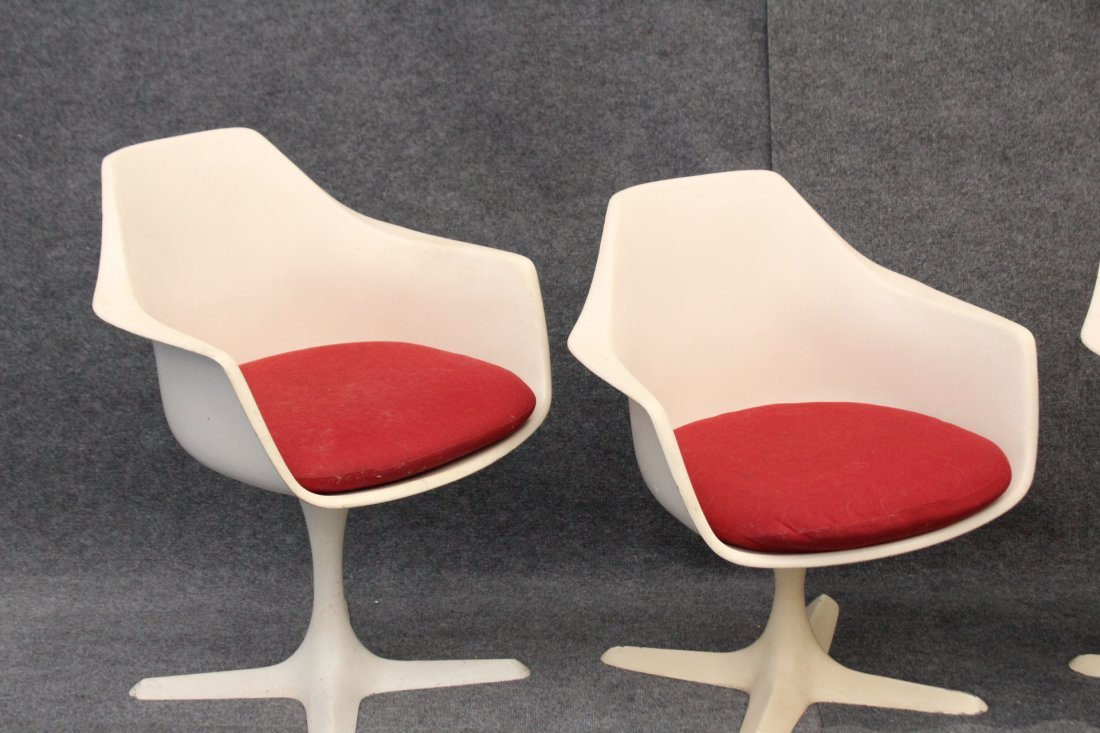 BURKE Saarinen Style 3 Dining Arm Chairs Propeller Base - 3