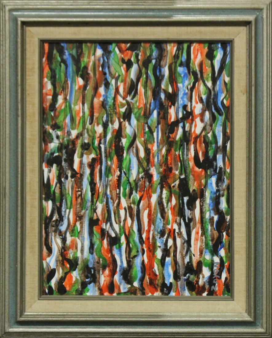 SEYMOUR ZAYON Mid Century Modern COLORFUL ABSTRACT
