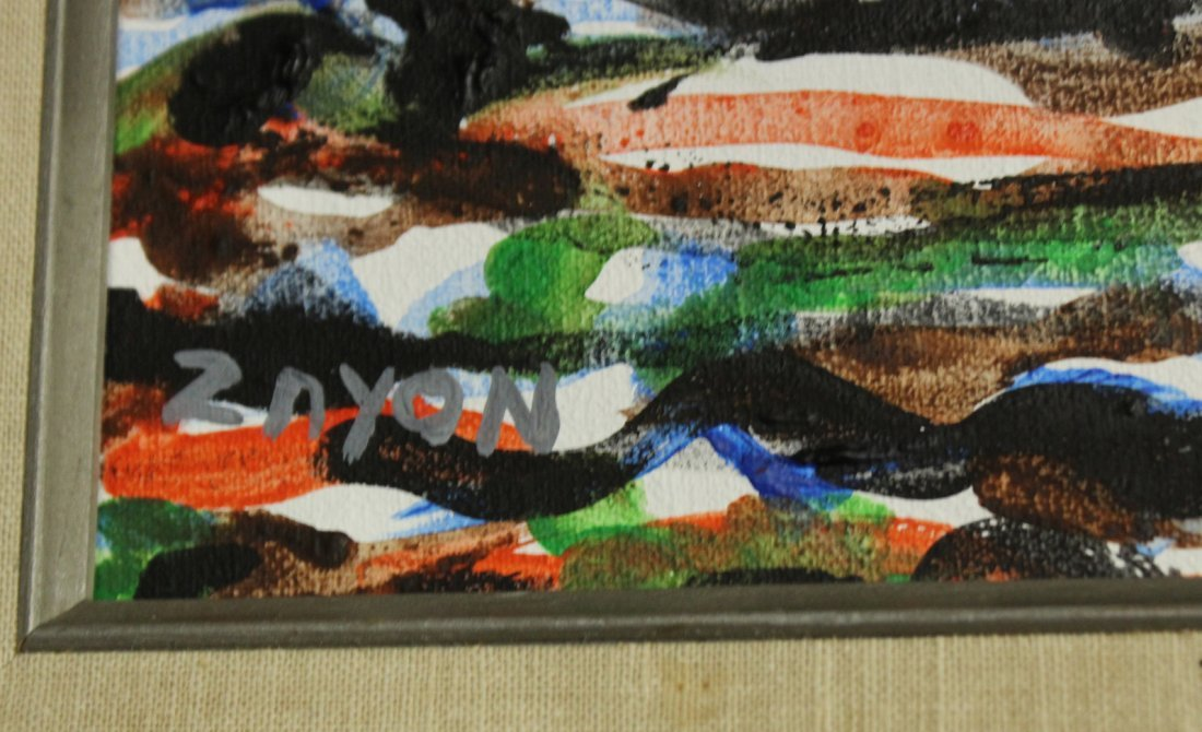 SEYMOUR ZAYON Mid Century Modern COLORFUL ABSTRACT - 2