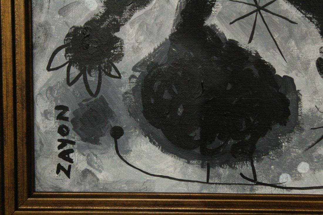 SEYMOUR ZAYON Mid Century Modern ABSTRACT FIGURE - 2